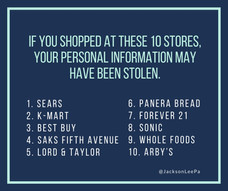 If you shopped at these 10 stores, your personal information may have been stolen.