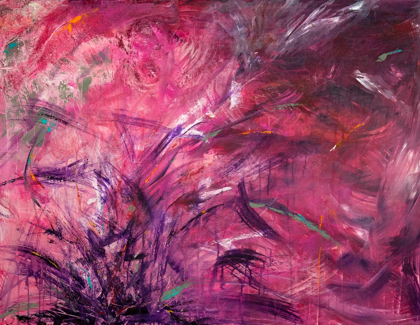 "Purple Explosion 40""x30"" Acrylic"