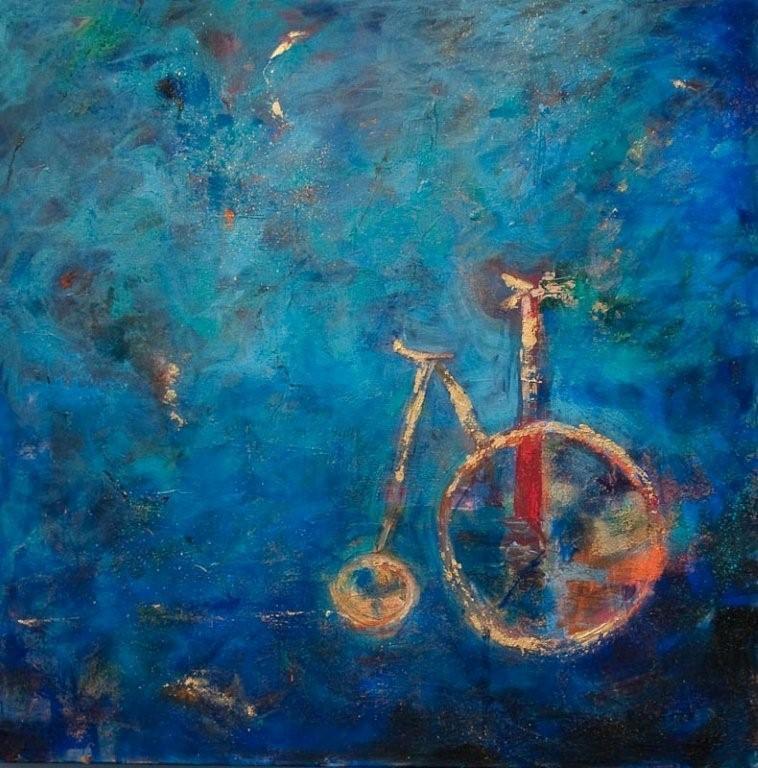 """Victor's Bicycle 30""""x30"""" Acrylic"""