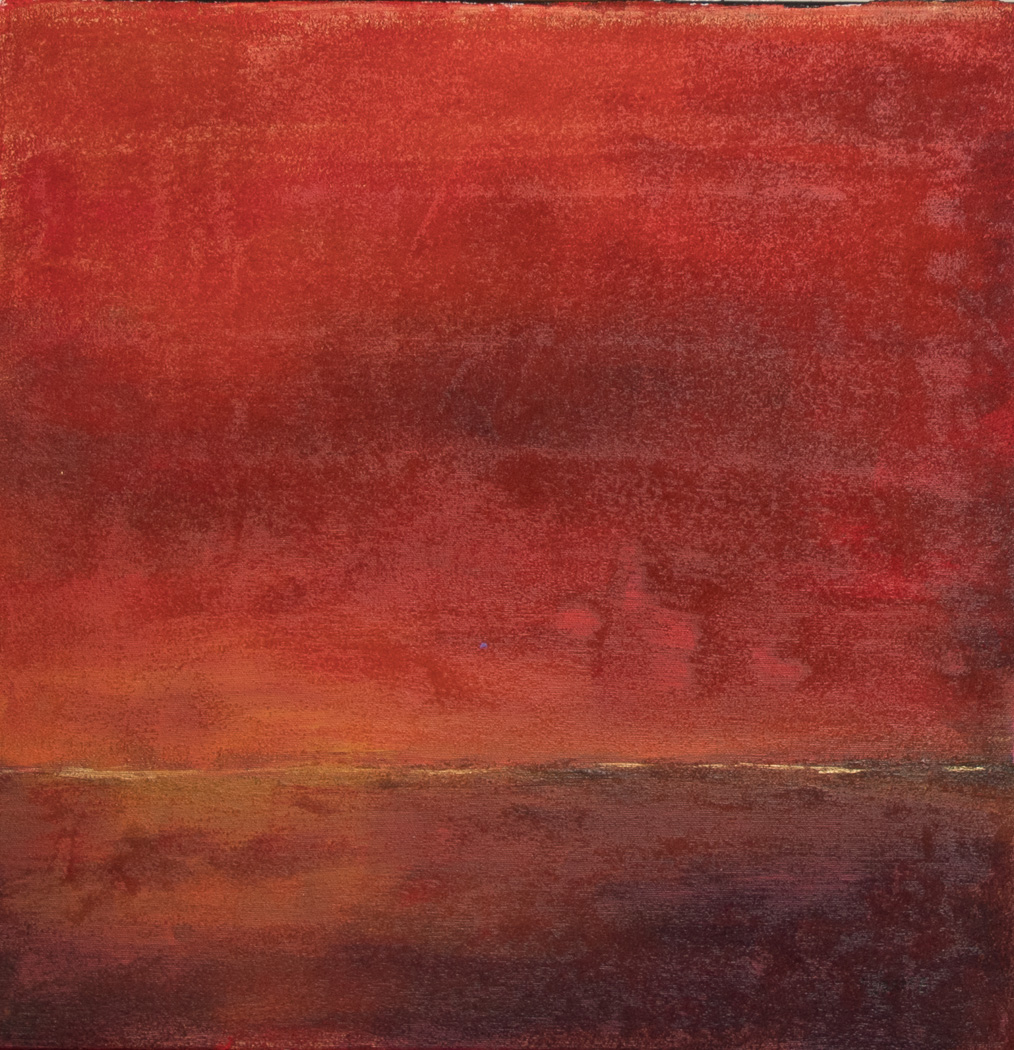 "Red Sunset 20""x20"" Acrylic"