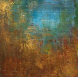 "Golden Pond 16""x16"" Acrylic"