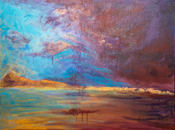 """Storm is Brewing 40"""" x 30"""" Acrylic"""