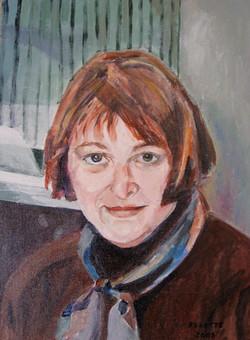 "Self Portrait 11""x15"" Oil"