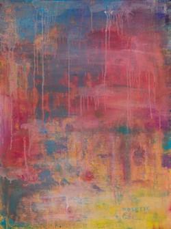 """Color Rain 30""""x40"""" Acrylic"""