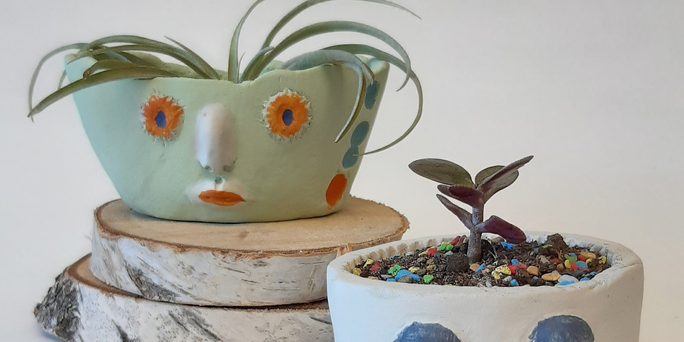 Clay Face Planter Workshop