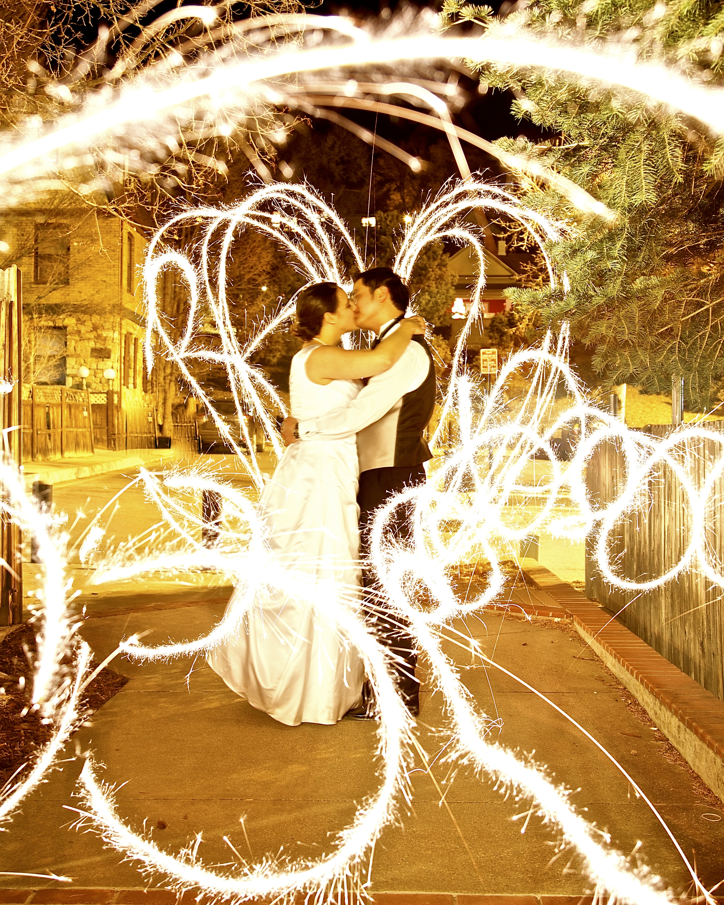 Sparkler wedding shot at The Loft