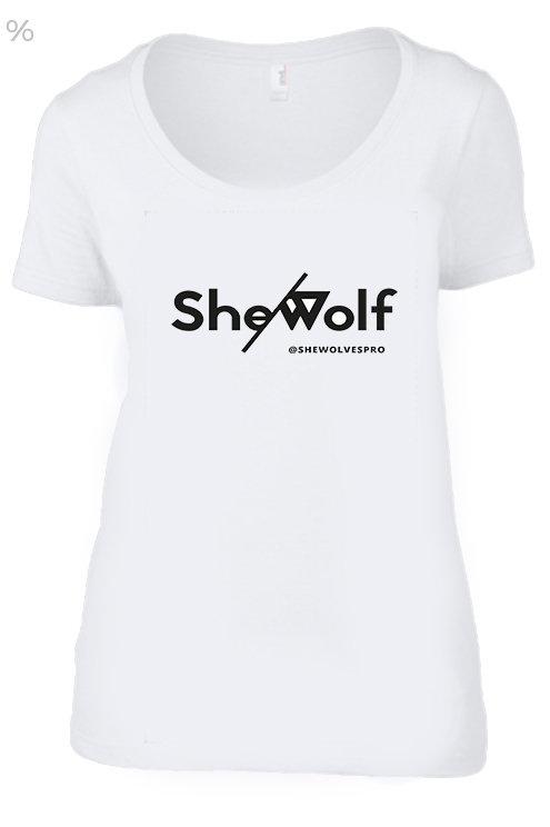 She/Wolf Women's T-Shirt- White
