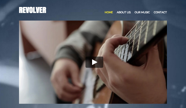 Musik website templates – Band-Seite