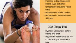 Hot, sweaty, stretchy yoga