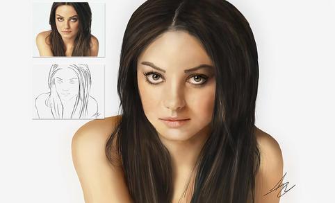 Mila Kunis tekening