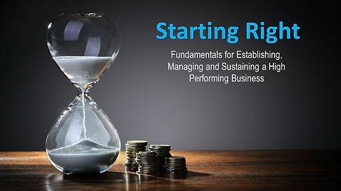 Starting Right Business Enrichment Semin