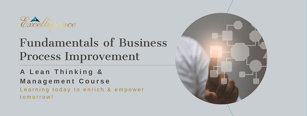 Fundamentals of Business Process Improve