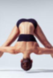 Sporty woman doing yoga