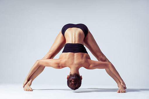 El estiramiento de la pierna Yoga Pose