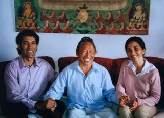With Lama Tharchin and Sylvie, circa. 2006