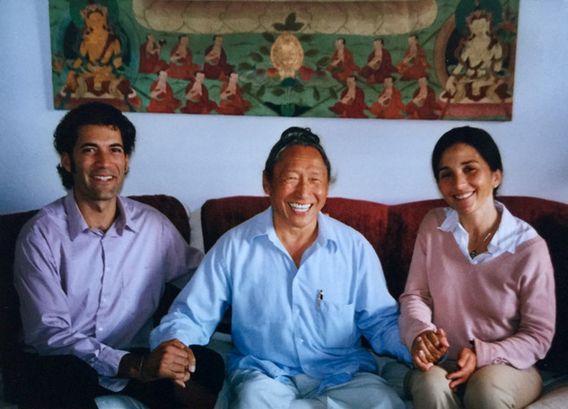 Avec Lama Tharchin et Sylvie, circa. 2006