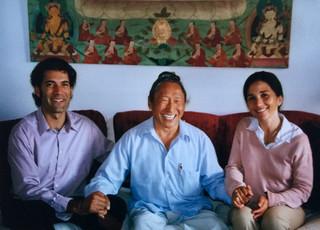 Con Lama Tharchin e Sylvie, circa. 2006