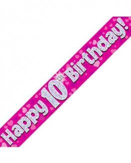 Age 10-17 Birthday Banners (Available in pink or blue)