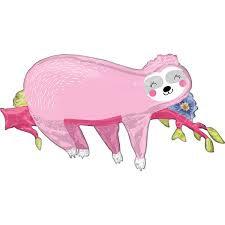 Pink Sloth Supershape Balloon