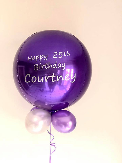Personalised ORBZ Balloon with Balloon Collar