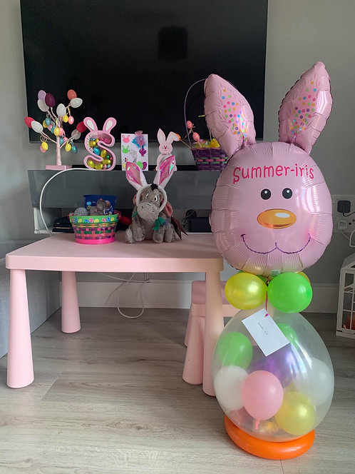 Easter Themed Chocolate Stuffed Balloon.