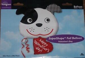 Valentine Supershape Foil Balloon Bouquet - DOG