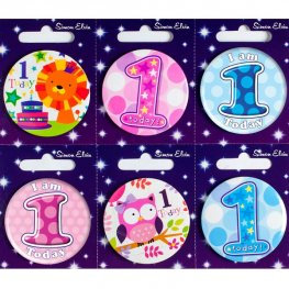 Ages 1-10 Birthday Small Badge