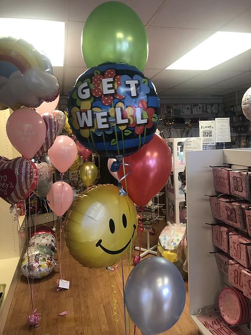 Get Well Soon Classic Balloon Bouquet