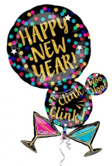 New Year Martini Supershape Balloon
