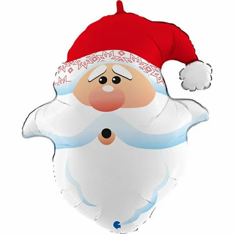 "Christmas Santa Head 26"" Foil Balloon"