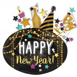 Festive New Year Supershape Balloon