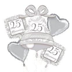 Anniversary all foil Balloon Bouquet