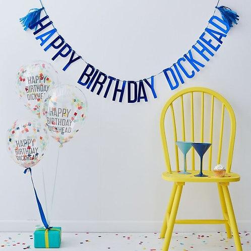 Happy Birthday Dickhead Party Kit