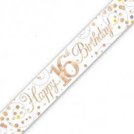 Age 16 & 18 Birthday Banners (Available in pink, blue or rose gold)
