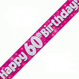 60th Birthday Banners (Available in pink, blue)