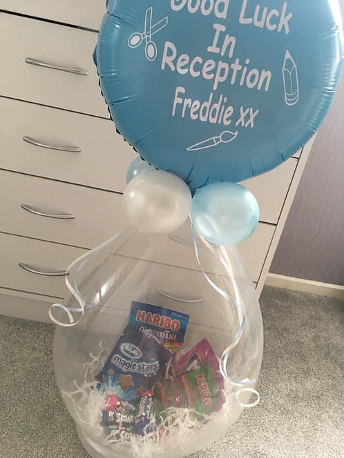 "PERSONALISED Sweet Stuffed Balloon - SMALL with 18"" Foil at Top"