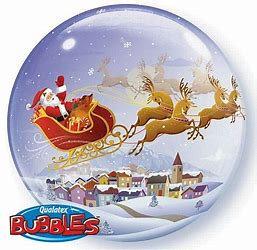 Bubble Christmas Balloon Display