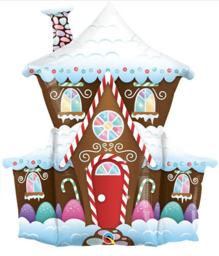 "37"" Decorated Gingerbread House Foil Supershape Balloons"