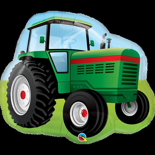 Green Tractor Supershape Balloon
