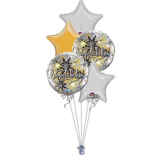 Congratulations All Foil Balloon Bouquet