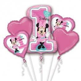 Mickey or Minnie !st Birthday all foil Balloon Bouquet