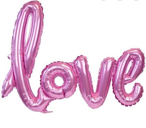 Love PINK script Balloon 23.5 inch/60cms (airfill)