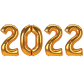 """2022 Gold Giant 34"""" Numbers Helium Filled"""