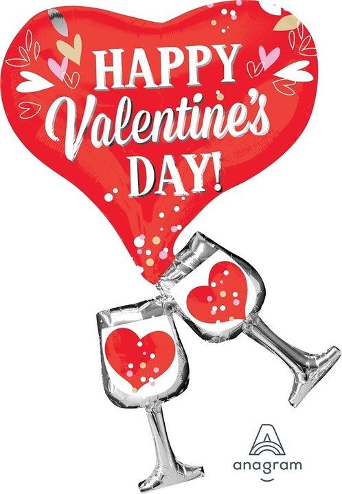 Valentine Supershape Foil Balloon Bouquet - CHEERS