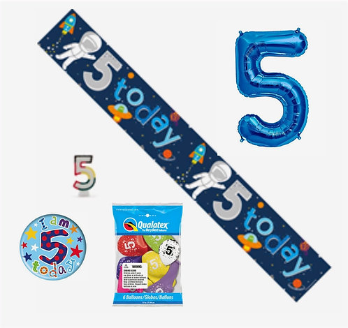 BIRTHDAY PACKAGE AGE 1-9 (INCLUDES GIANT NUMBER OR CHARACTER BALLOON)