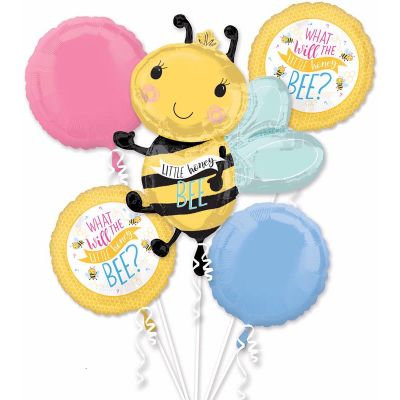 What will it bee all foil balloon bouquet - baby shower