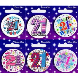 Ages 21-100 Birthday Small Badge