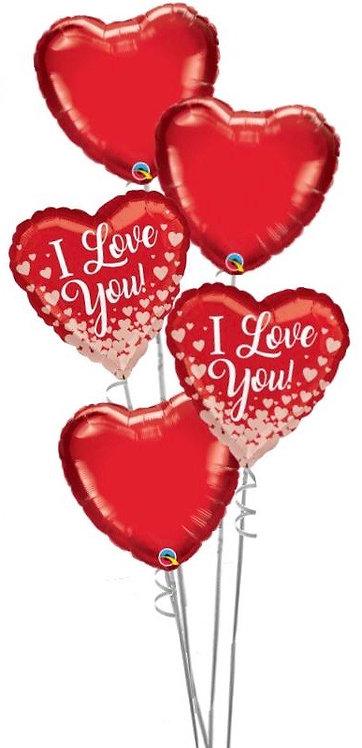 Valentine All Foil Balloon Bouquet