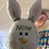 Thumbnail: Easter Bunny Head Supershape, personlised with child's name