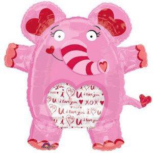 Valentine Supershape Foil Balloon Bouquet - PINK ELEPHANT